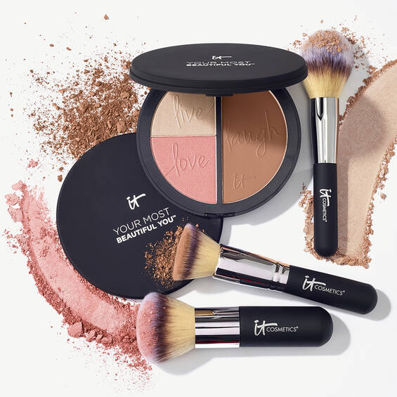 Your Most Beautiful You Anti-Aging Matte Bronzer, Radiance Luminizer & Brightening Blush Palette